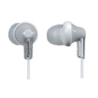 Panasonic ErgoFit In-Ear Earbud Headphones Dynamic Crystal Clear Sound, Ergonomic Comfort-Fit (White)