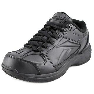 Reebok Jorie Women W Round Toe Leather Black Work Shoe