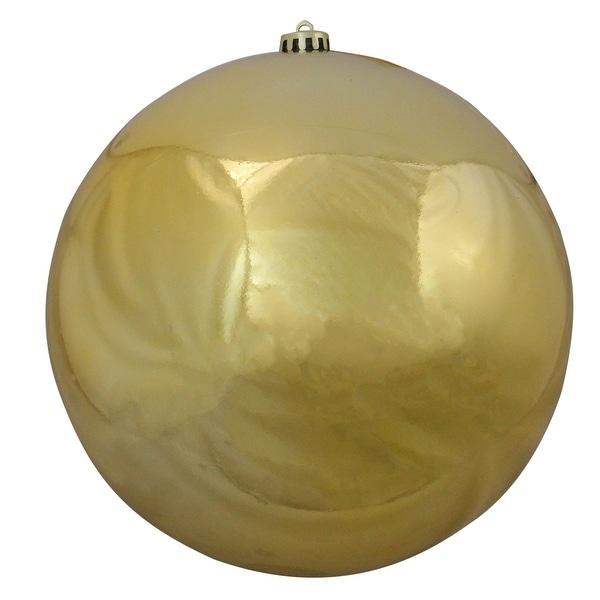 "Shiny Vegas Gold Commercial Shatterproof Christmas Ball Ornament 10"" (250mm)"