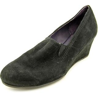 Vaneli Dilys N/S Open Toe Suede Wedge Heel