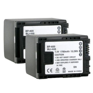 Canon Camcorder Battery - 1780 mAh - Lithium Ion (Li-Ion) - 7.4 V DC - 2 Pack
