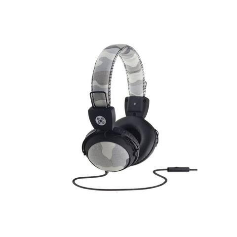Moki Camo In-line Mic Headphones Grey