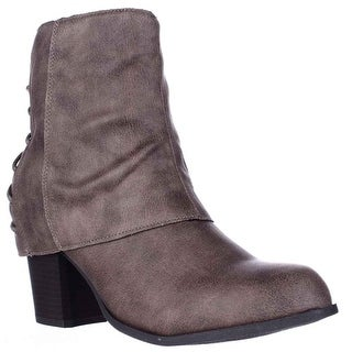 Fergalicious Trina Back Lace Ankle Booties - Sand