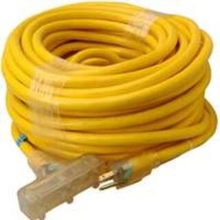 Coleman Cable 043898802 Triple End Extension Cords W/Lite, 100'