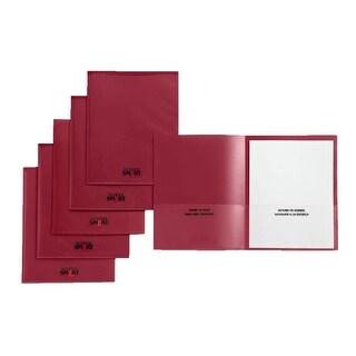 School Smart Take Home Heavy-Duty Folder, Red, Pack of 24