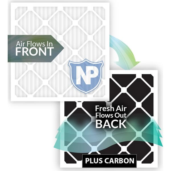 Nordic Pure 12x30x1 Exact MERV 8 Pure Carbon Pleated Odor Reduction AC Furnace Air Filters 4 Pack