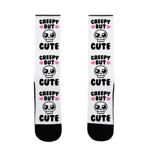 Creepy But Cute US Size 7-13 Socks by LookHUMAN