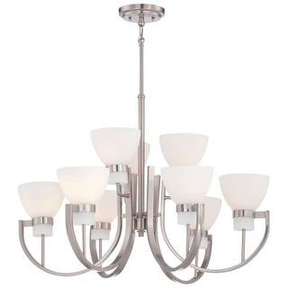 Minka Lavery 4389-84 9 Light 2 Tier Chandeliers from the Hudson Bay Collection