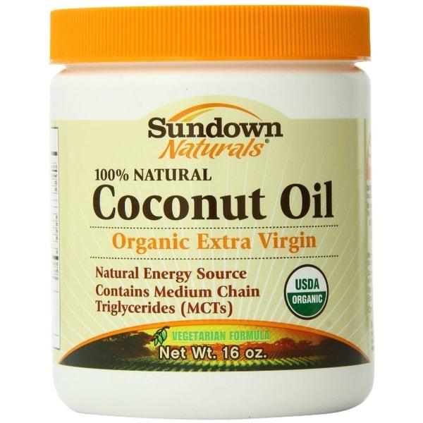 Sundown Naturals Organic Extra Vigin Coconut Oil 16 oz