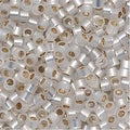 Miyuki Delica Seed Beads 11/0 Gilt Lined White Opal DB221 7.2 Grams - Thumbnail 0