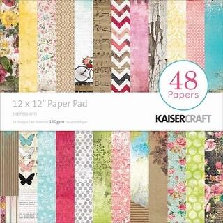 "Expressions - Kaisercraft Paper Pad 12""X12"" 48/Pkg"