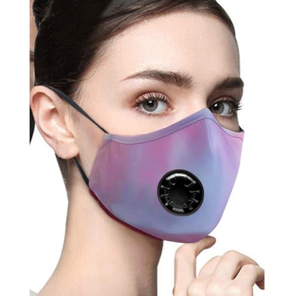 Cali Chic Face Cover Breathable Face Mask Washable Purple Tie Dye Ships from USA - one size. Opens flyout.