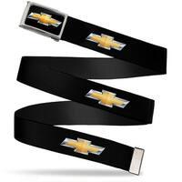 Chevy Bowtie Fcg Black Gold Chrome Chevy Bowtie Black Gold Logo Repeat Web Belt
