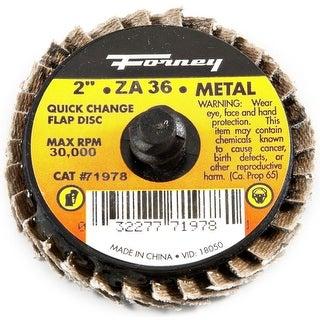 """Forney 71978 Quick Change Mini-Flap Disc, 2"""", 36 Grit"""