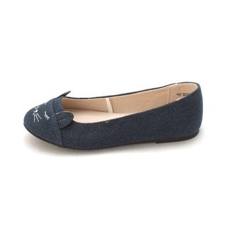 The Children's Place Girls The Children's Place Denim Cat Flats Slip On Balle...