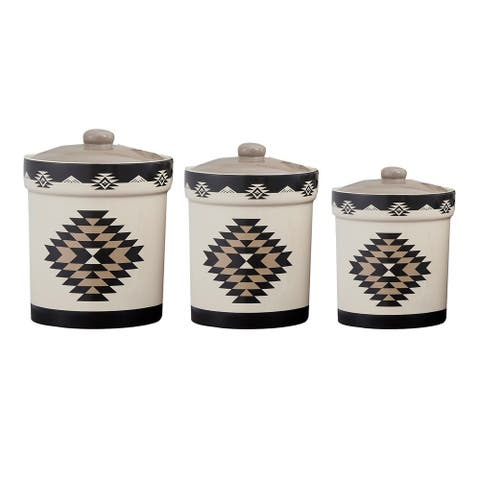 HiEnd Accents 3 PC Chalet Canister Set - N/A