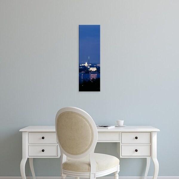 Easy Art Prints Panoramic Image 'Lincoln Memorial, Washington Monument, US Capitol Building, Washington DC' Canvas Art