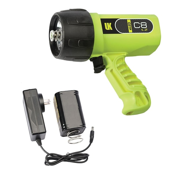 UK C8 eLED (L2) Rechargeable w/ NiMH Battery/Charger, Box Dive Light Yellow DS