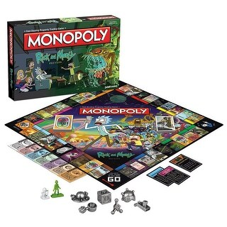 Rick and Morty Monopoly Board Game - multi