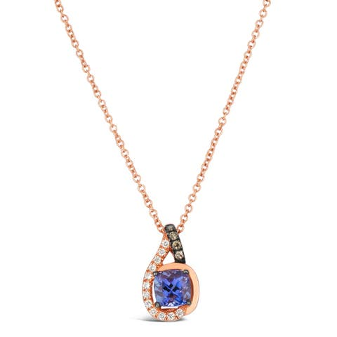Encore by Le Vian Tanzanite & Chocolate Diamond Pendant 14K Rose Gold 18""