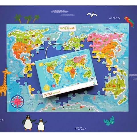 DODO World Map Puzzle - 100 pieces