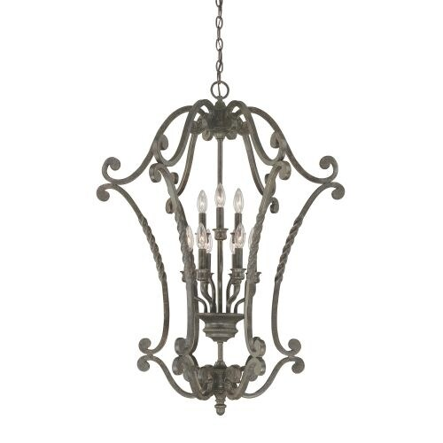 Jeremiah Lighting 22439 Sutherland 9 Light Lantern Indoor Pendant - 28 Inches Wide