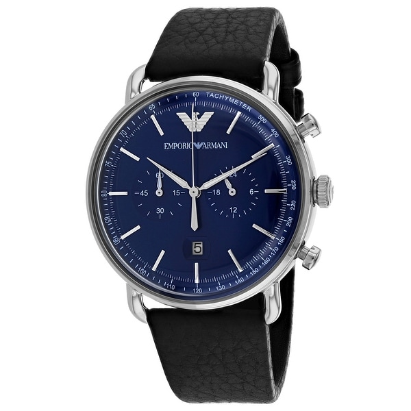 666a8feaa Shop Armani Men's Dress Blue Dial Watch - Free Shipping Today - Overstock -  25751458