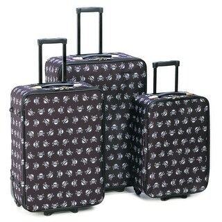 Stylish Skull Luggage Trio