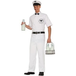 Forum Novelties 50's Milkman Adult Costume (XL) - White - X-LARGE