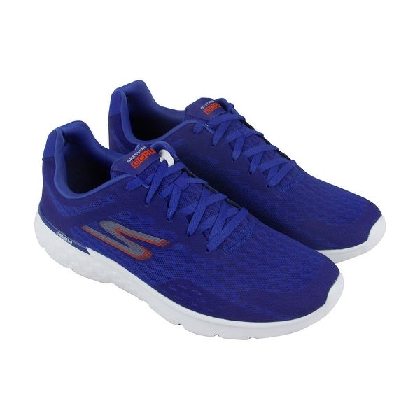 Skechers Go Run 400 Disperse Mens Blue Orange Mesh Athletic Running Shoes
