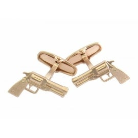 Rose Gold Golden Handgun Cufflinks