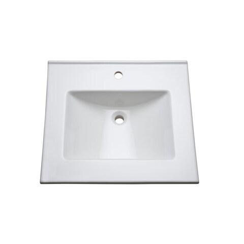 "Mirabelle MIRT25221 25"" Vitreous China Vanity Top - White"