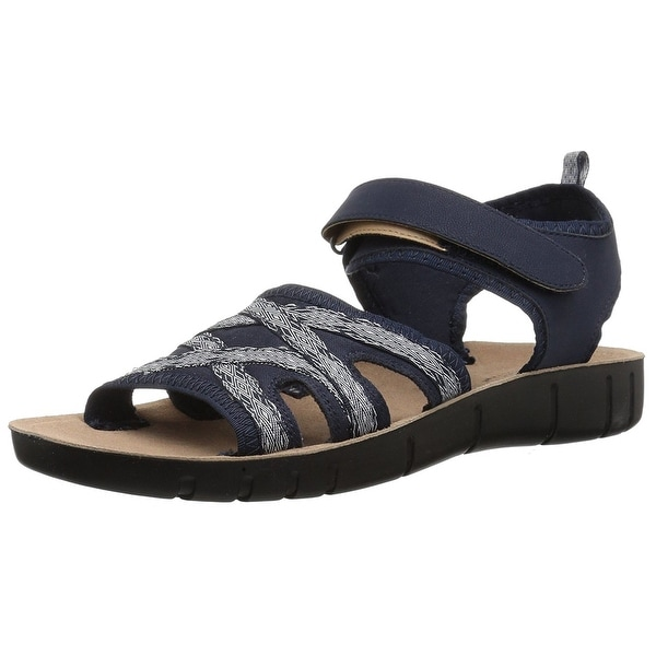 LifeStride Womens Juno Open Toe Casual Slingback Sandals