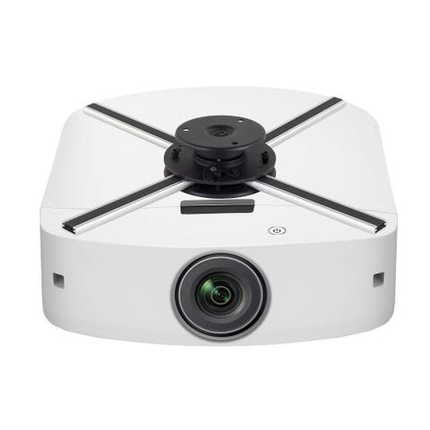 Mount-It! Ceiling Projector Mount With Security Lock Full Motion Adjustment 44 Lbs Capacity -MI-609 - silver