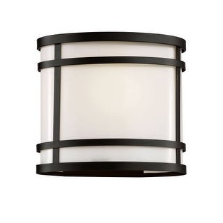 """Trans Globe Lighting 40201 1 Light 8.25"""" Outdoor Wall Sconce with White Acrylic Shade"""
