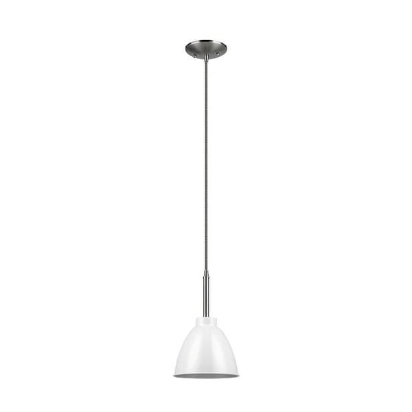 Globe 65621 Single Light Pendant with Hanging Cord, White