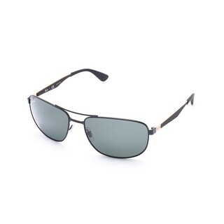 Ray-Ban Squared Pilot Sunglasses Black/Gold - Small