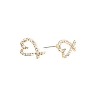 Heart Earrings for Valentine's Day - gold
