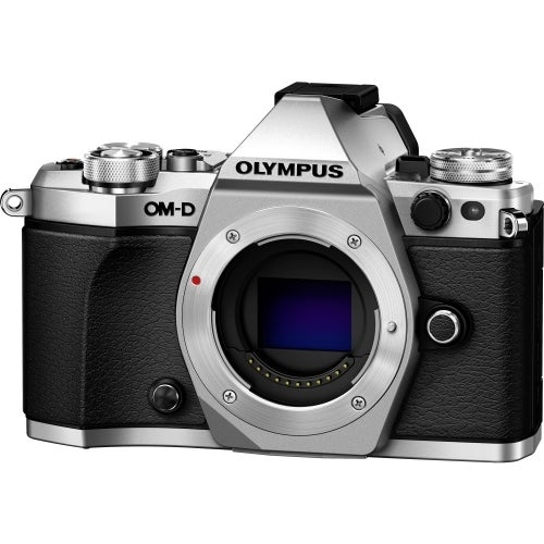 """""""Olympus V207040SU000 Olympus OM-D E-M5 Mark II 16.1 Megapixel Mirrorless Camera Body Only - Silver - 3"""" Touchscreen LCD -"""