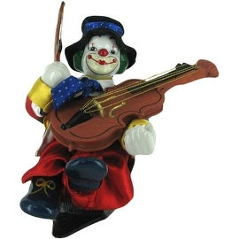 Animated Wind Up Musical Clown Playing a Violin