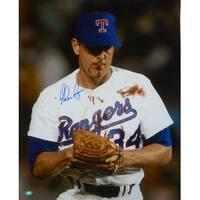 Nolan Ryan Autographed Texas Rangers 16x20 Photo Bloody Lip