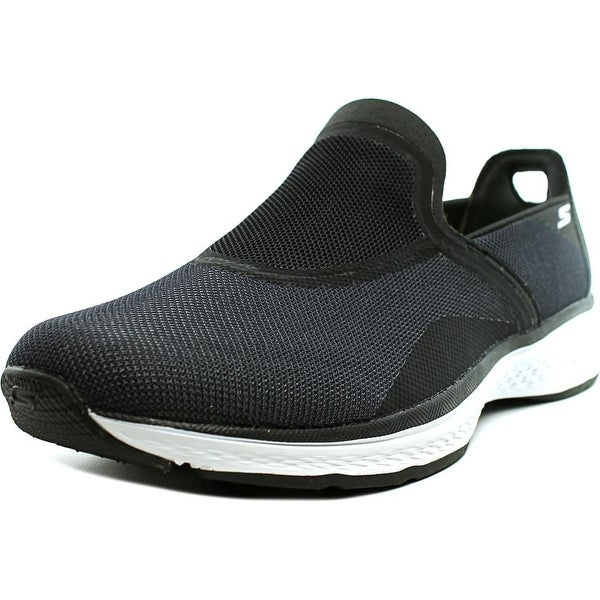 Skechers Refresh Men Round Toe Canvas Black Walking Shoe