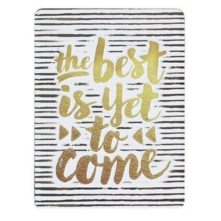 Open Road Brands 90161132-S Best Is Yet to Come Embossed Tin Magnet
