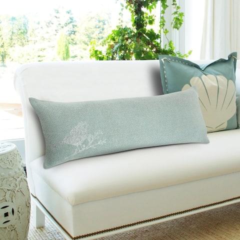 Silver Pirched Bird Lumbar Pillow