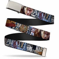 Blank Chrome Buckle Harry Potter Reward Quidditch Ball Webbing Web Belt