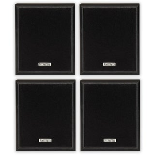 Acoustic Audio RW-SP3 Bookshelf Speakers 200 Watt 2 Way Home Theater Audio 2 Pair Pack RW-SP3-2PR