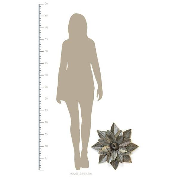 Stratton Home Decor Handcrafted Layered Galvanized Metal Flower Wall Art Overstock 30864516