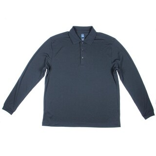 PGA Tour Mens Textured Long Sleeves Polo - L