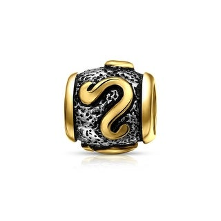 Bling Jewelry Leo Charm Gold Plated 925 Sterling Silver Zodiac Bead