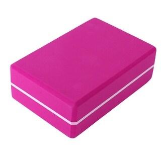 Gym Exercise Training EVA Foam Rectangle Shaped Pilates Yoga Block Brick Pink